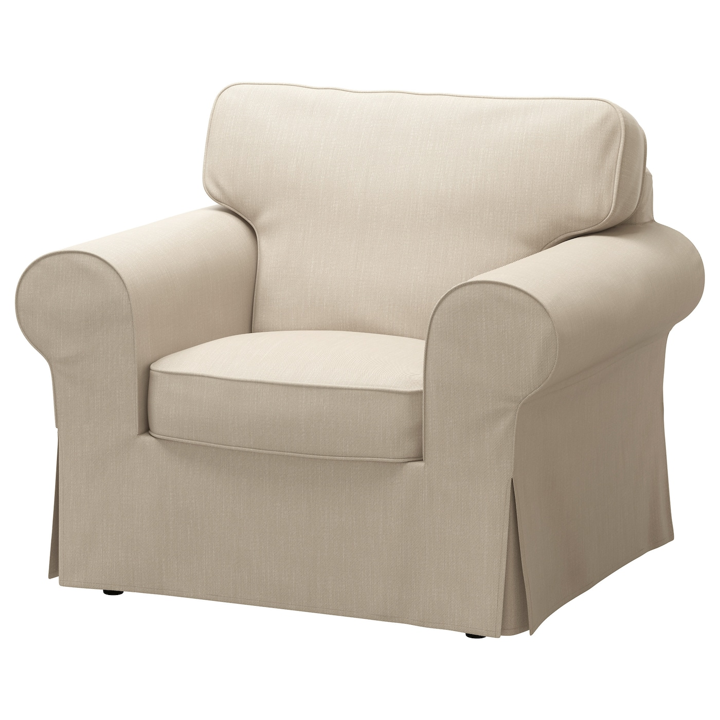 Ektorp armchair nordvalla dark beige ikea for Housse sofa ikea