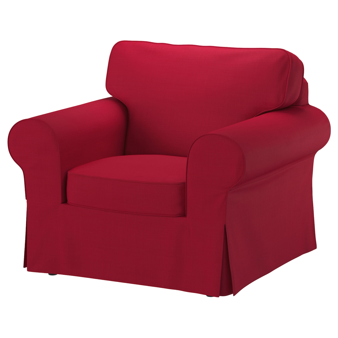 EKTORP Three-seat sofa Nordvalla red