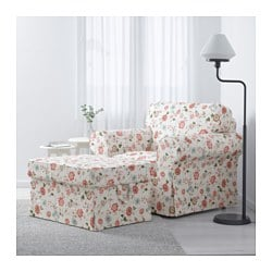 Ektorp armchair videslund multicolour ikea for Ikea poltrona ektorp