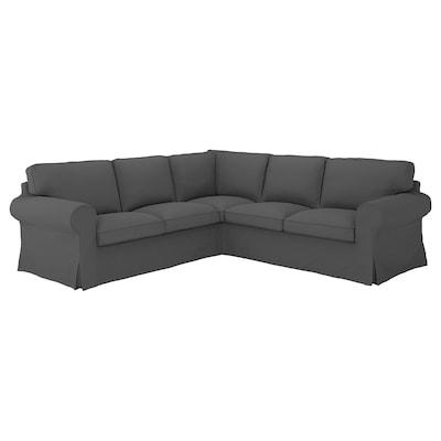 EKTORP Corner sofa, 4-seat, Hallarp grey