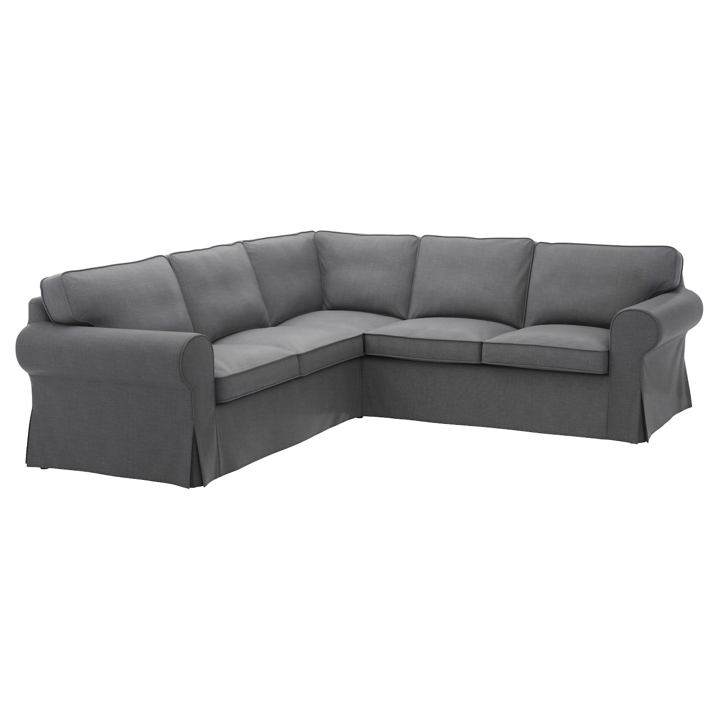 Ektorp corner sofa 4 seat nordvalla dark grey ikea for 8 foot couch