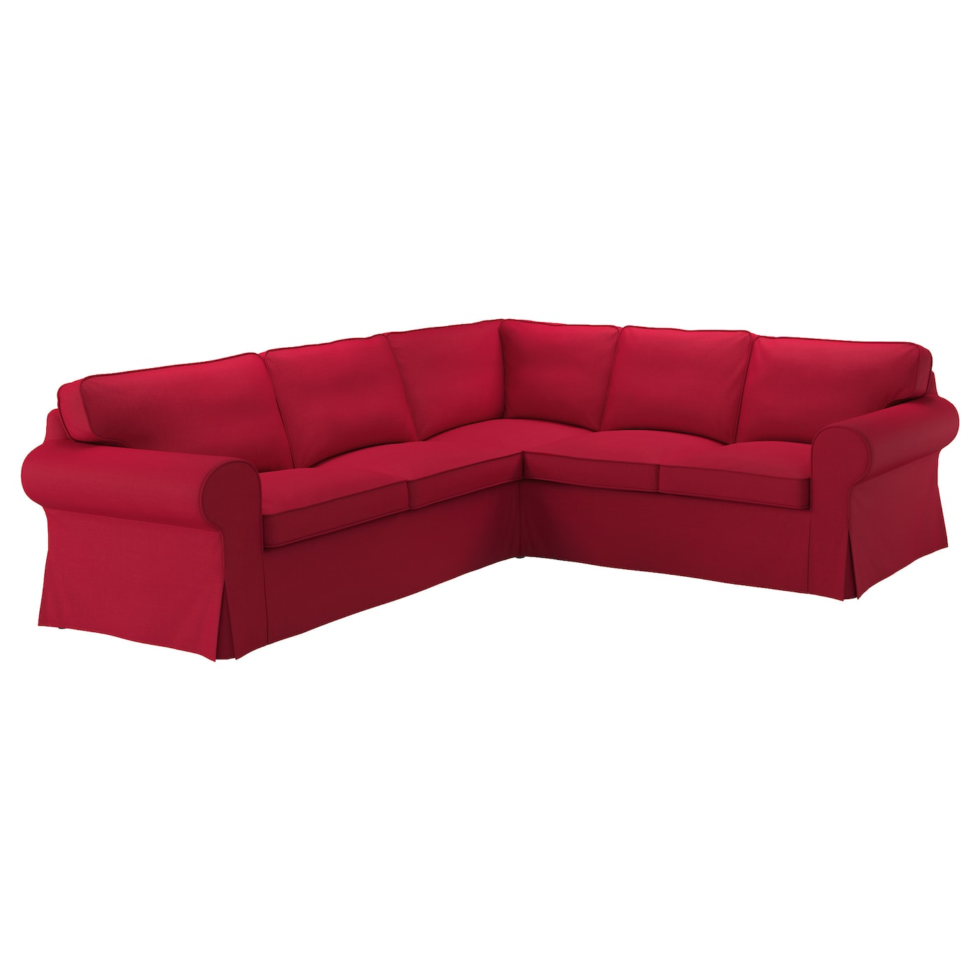ektorp corner sofa 4 seat nordvalla red ikea. Black Bedroom Furniture Sets. Home Design Ideas
