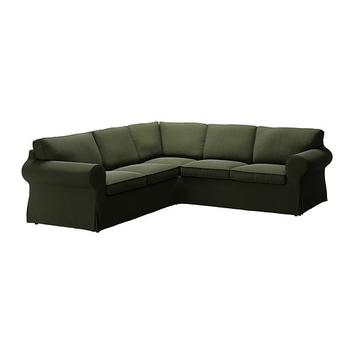 EKTORP Corner sofa 2+2 IKEA Easy to keep clean; removable dry-clean cover.