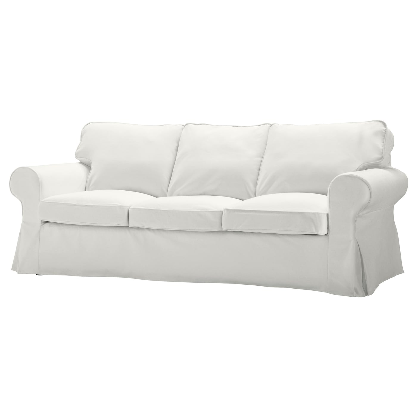 EKTORP Cover three seat sofa Blekinge white IKEA