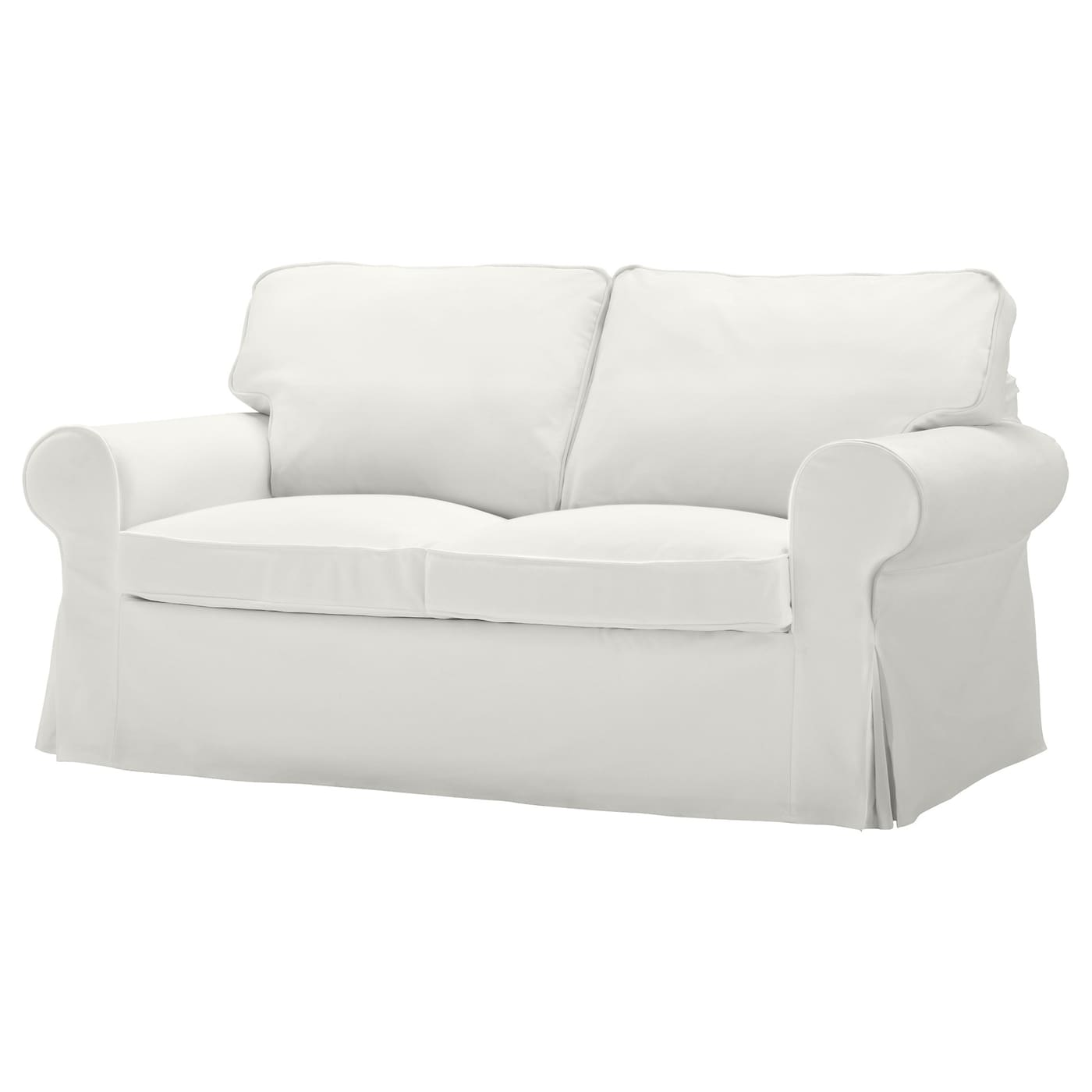 Ektorp cover two seat sofa blekinge white ikea White loveseat slipcovers