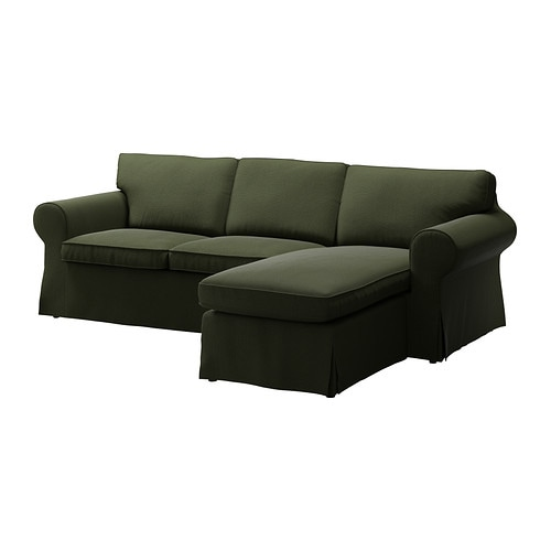 EKTORP Cover two-seat sofa w chaise lounge IKEA