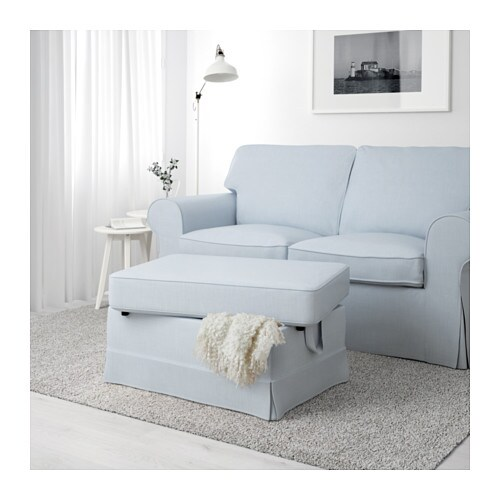 ektorp footstool nordvalla light blue ikea. Black Bedroom Furniture Sets. Home Design Ideas