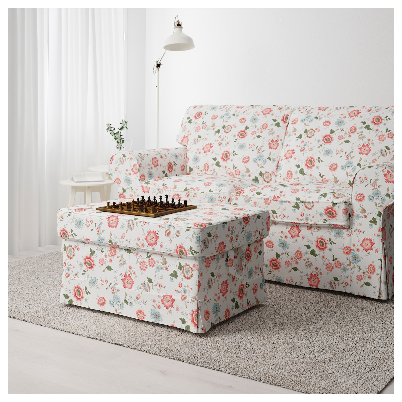 IKEA EKTORP footstool The cover is easy to keep clean as it is removable and can be machine washed.