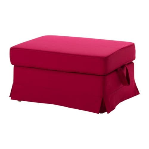 EKTORP Footstool IKEA Easy to keep clean; removable, machine washable cover.  Storage space under the seat for magazines, toys, etc.