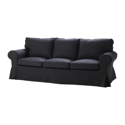 EKTORP HÅVET Three-seat sofa-bed IKEA Smart, hidden storage in the backrest.