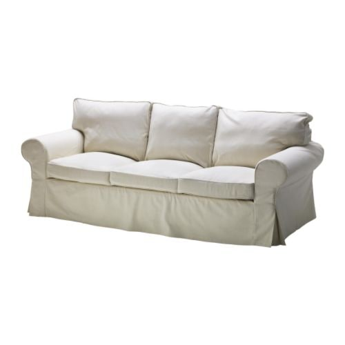 EKTORP PIXBO Three-seat sofa-bed cover IKEA Easy to keep clean; removable dry-clean cover.