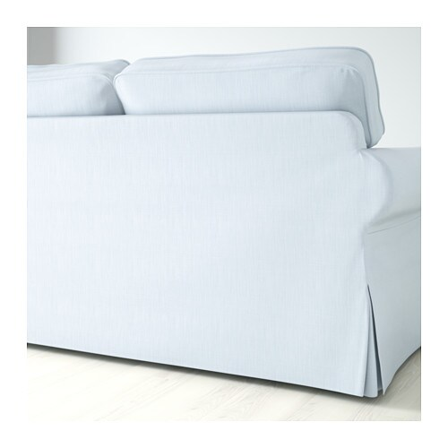 EKTORP Three-seat sofa Nordvalla light blue - IKEA