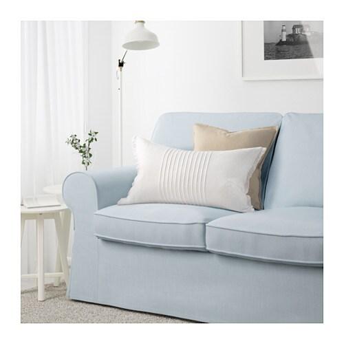 ektorp three seat sofa nordvalla light blue ikea. Black Bedroom Furniture Sets. Home Design Ideas