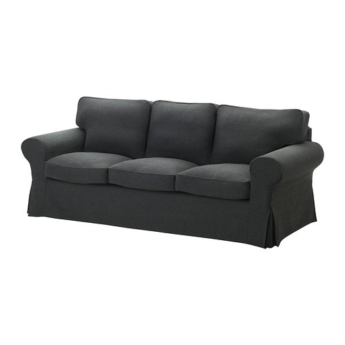 EKTORP Three-seat sofa IKEA Easy to keep clean; removable dry-clean cover.