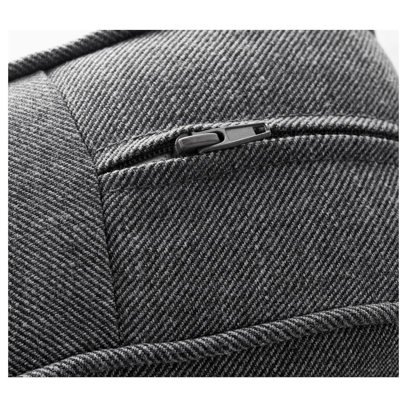 Ektorp two seat sofa and chaise longue nordvalla dark grey ikea - Chaise longue exterieur ikea ...