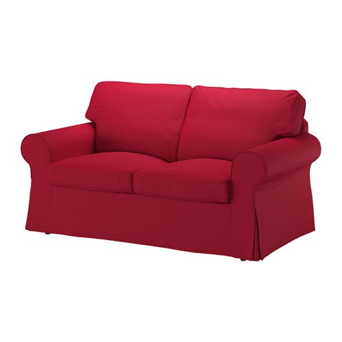 Ektorp two seat sofa nordvalla red ikea for Housse pour sofa