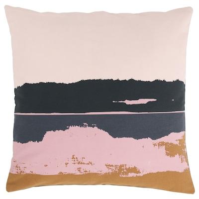 ELDTÖREL Cushion cover, pink/multicolour, 50x50 cm