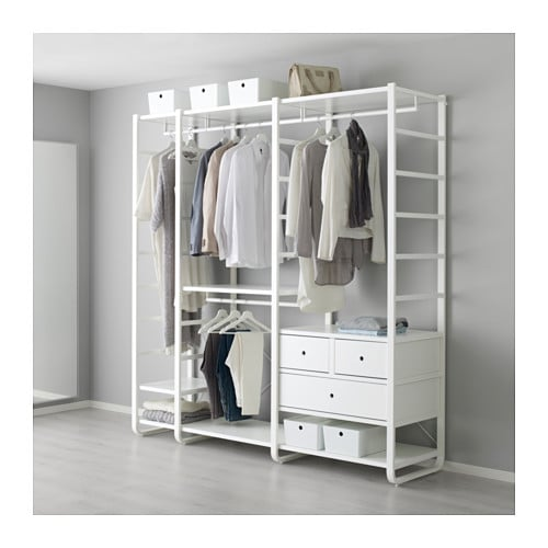 elvarli 3 sections white 205 x 55 x 216 cm ikea. Black Bedroom Furniture Sets. Home Design Ideas