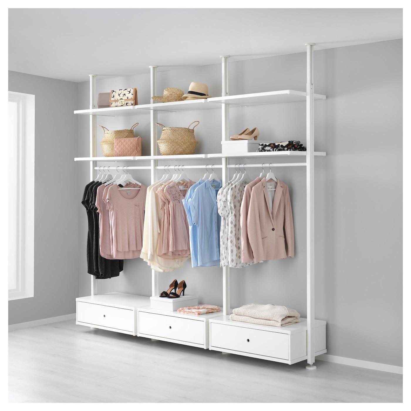 elvarli 3 sections white 258x51x222 350 cm ikea. Black Bedroom Furniture Sets. Home Design Ideas