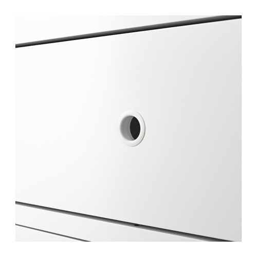 IKEA ELVARLI drawer Closes slowly, silently and softly thanks to an integrated damper.