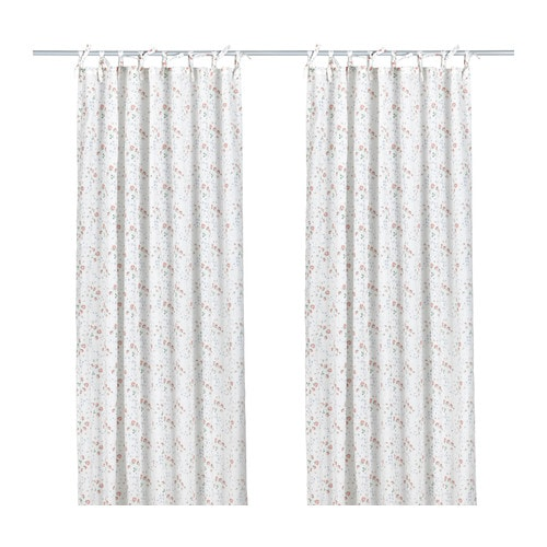 EMMIE KNOPP Curtains, 1 pair IKEA The tie heading allows you to hang the curtains directly on a curtain rod.