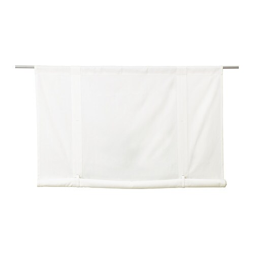 EMMIE Roll-up blind IKEA The slot heading allows you to hang the roll-up blind directly on a curtain rod.