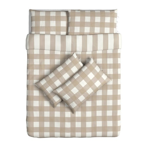 EMMIE RUTA Quilt cover and 4 pillowcases IKEA