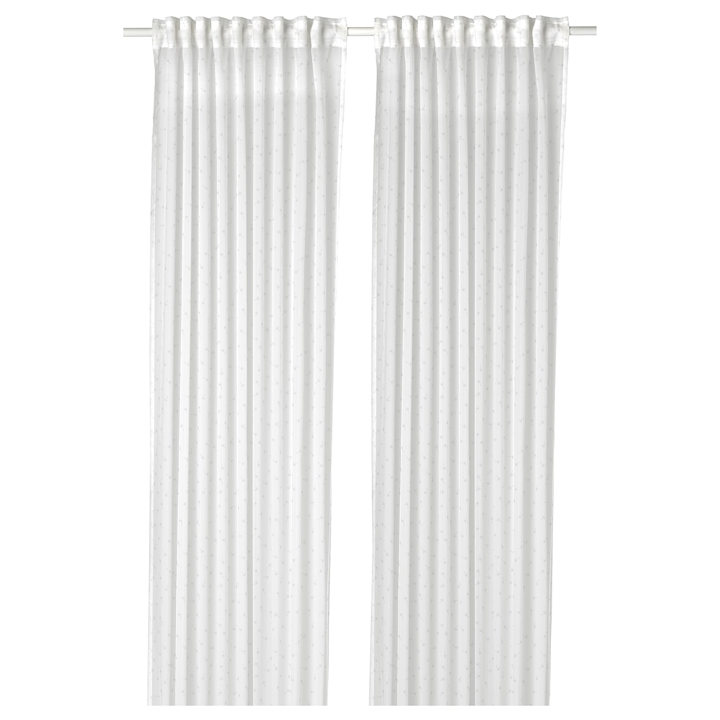IKEA EMMYLINA sheer curtains, 1 pair The curtains can be used on a curtain rod or a curtain track.