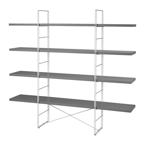 IKEA ENETRI Shelving Unit Adjustable Feet Stands Steady Also On An Uneven Floor Easy