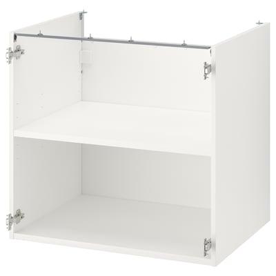 ENHET Base cb w shelf, white, 80x60x75 cm
