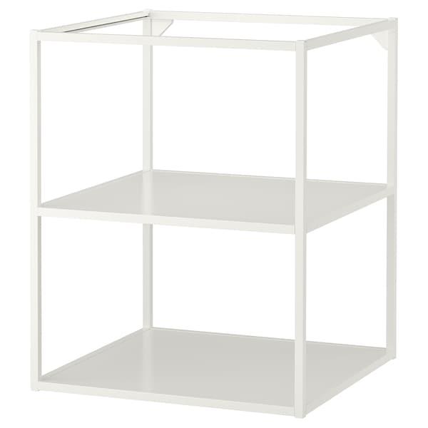 ENHET Base fr w shelves, white, 60x60x75 cm