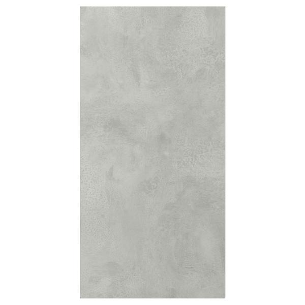 ENHET Door, concrete effect, 30x60 cm