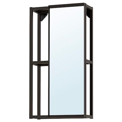 ENHET Mirror cabinet, anthracite, 40x15x75 cm