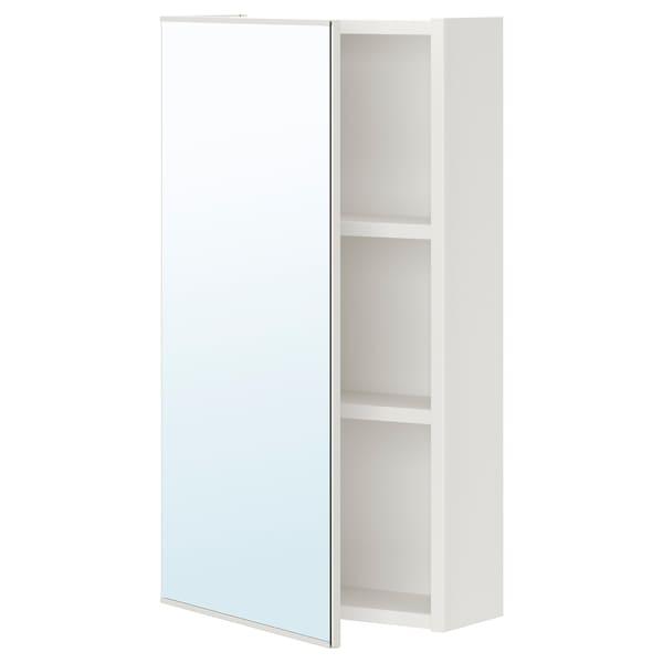 ENHET Mirror cabinet with 1 door, white, 40x17x75 cm