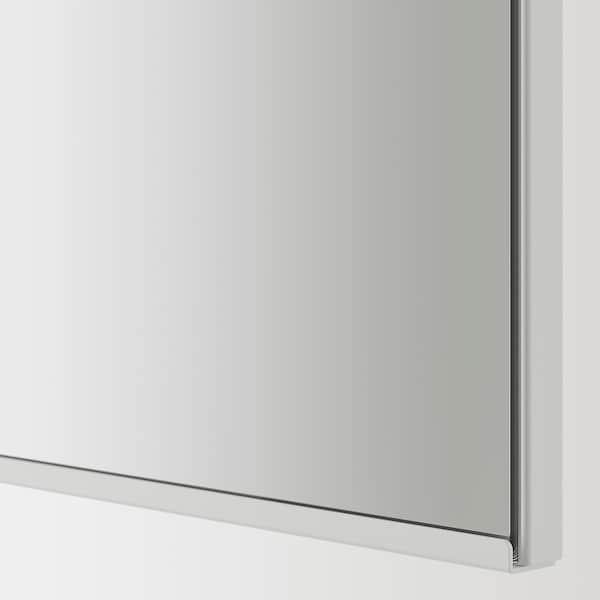ENHET Mirror cabinet with 2 doors, grey, 80x17x75 cm