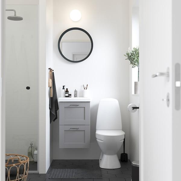 ENHET / TVÄLLEN Wash-stand with 2 drawers, grey frame/grey Pilkån tap, 44x43x65 cm