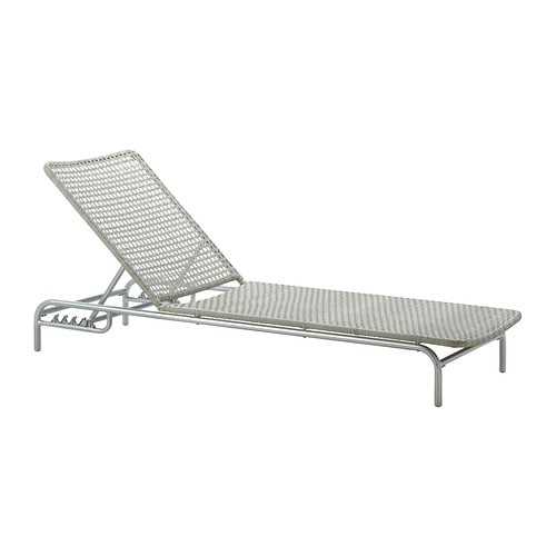 ENHOLMEN Sun lounger IKEA The back is adjustable to 5 positions; adjust according to need.