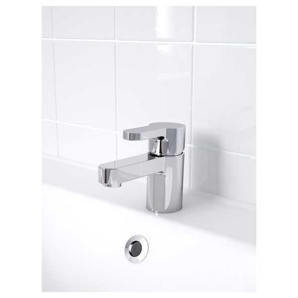 ENSEN Wash-basin mixer tap with strainer, chrome-plated