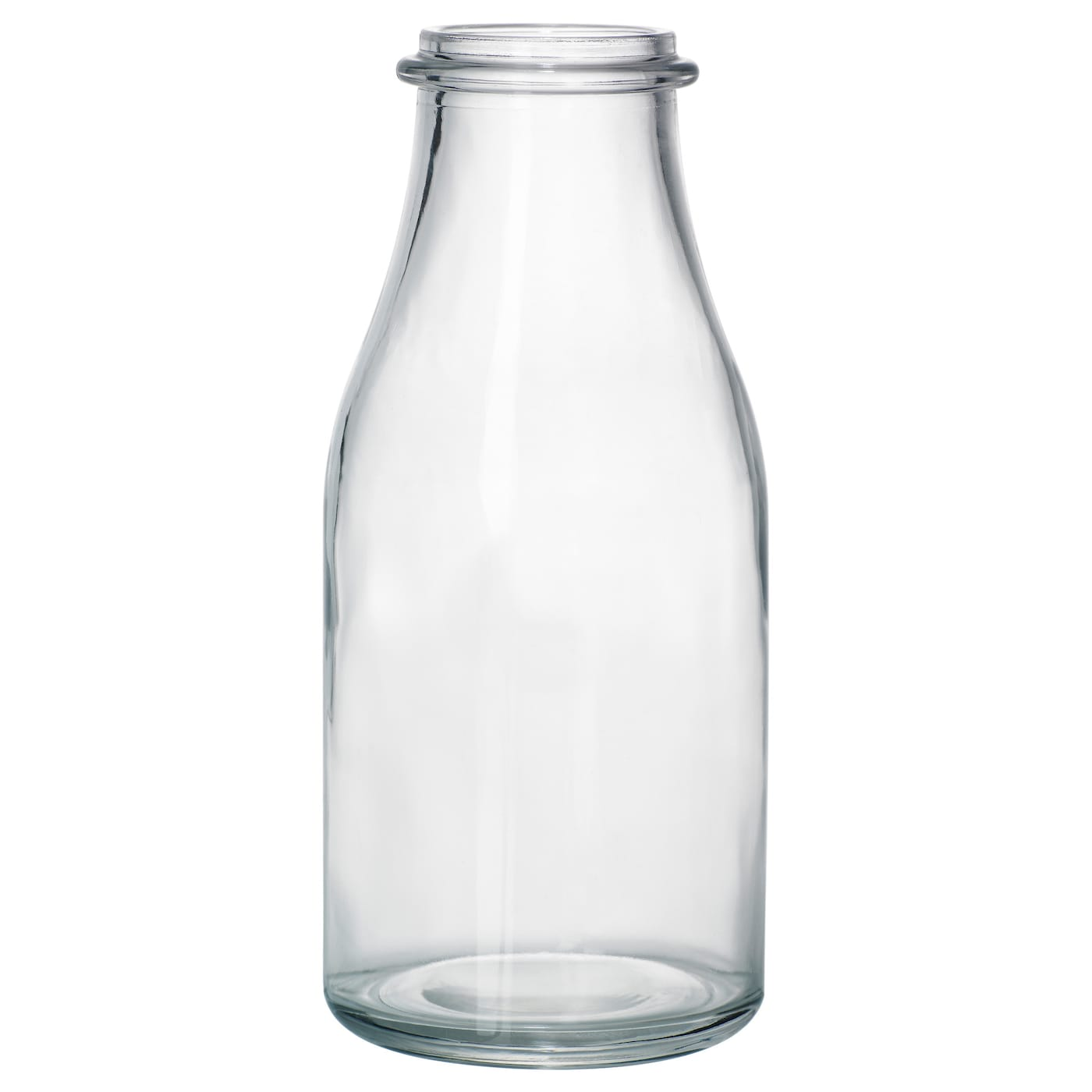 Ensidig vase clear glass 18 cm ikea for Botellas de cristal ikea