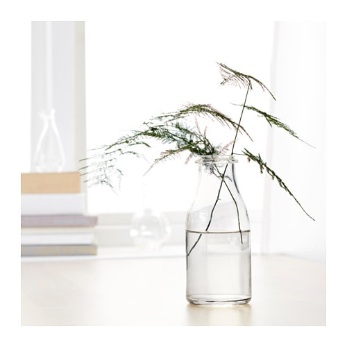 ensidig vase clear glass 18 cm ikea. Black Bedroom Furniture Sets. Home Design Ideas