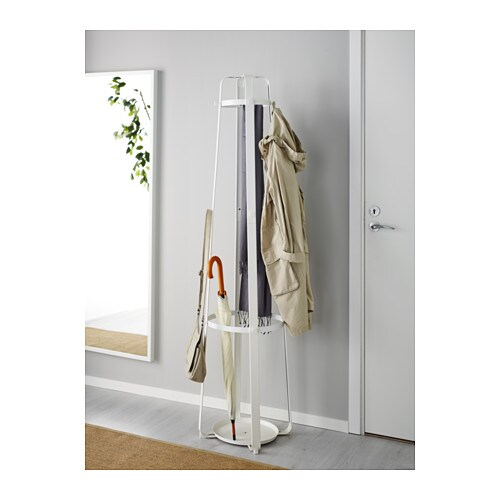 Coat rack with umbrella stand ikea for Ikea coat and hat rack