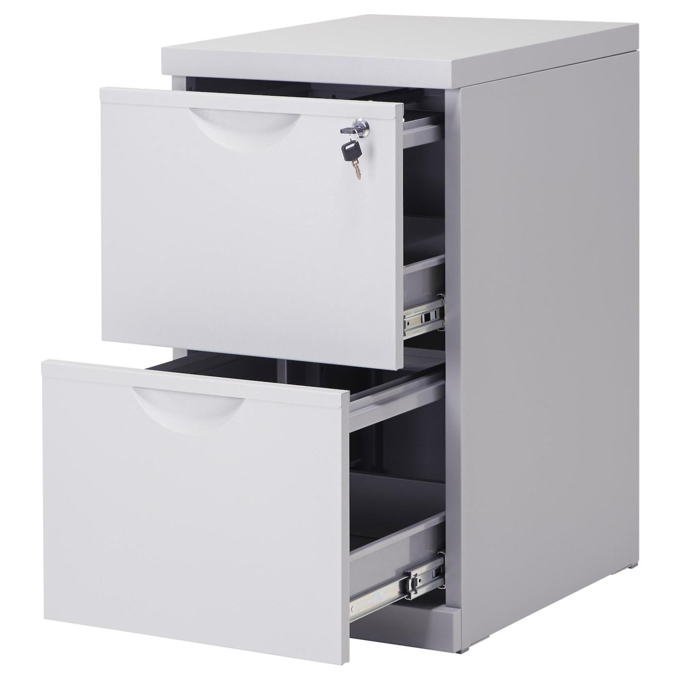 Erik File Cabinet Silver Colour 41x72 Cm Ikea