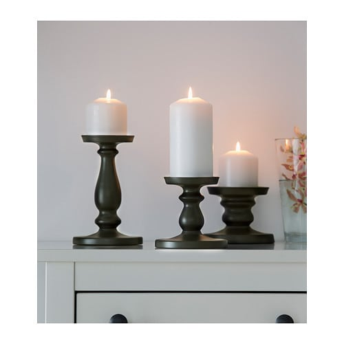 ers tta block candle holder grey 13 cm ikea. Black Bedroom Furniture Sets. Home Design Ideas