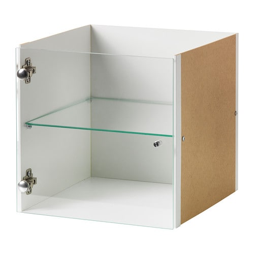 EXPEDIT Insert with glass door IKEA Display your favourite items in an insert with glass door; adds a personal touch to your EXPEDIT shelving unit.