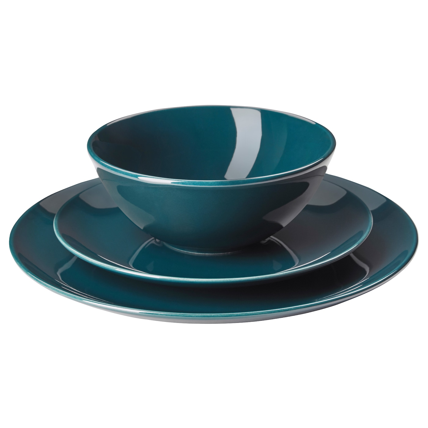 Deep colors asian style dinnerware