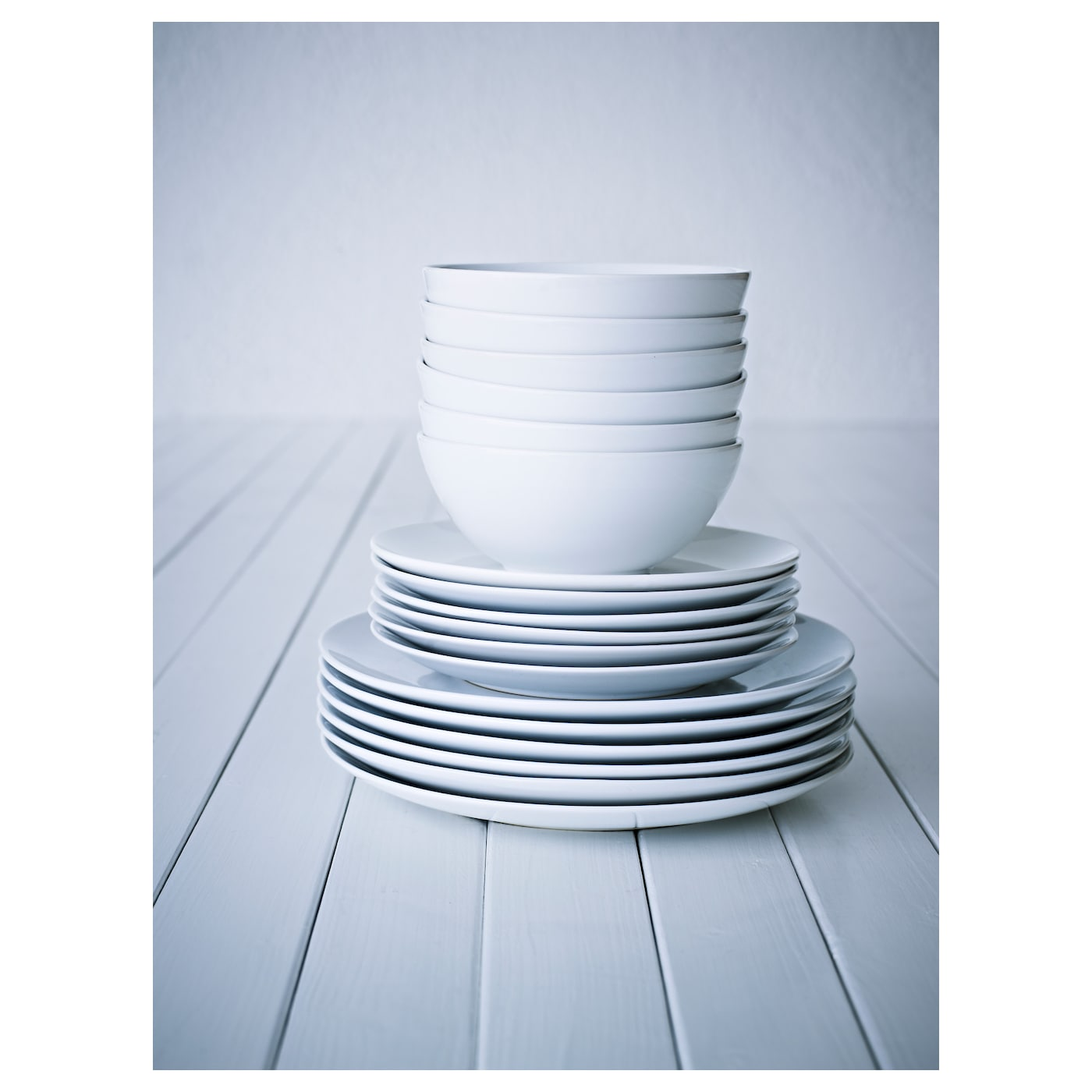 Ikea Küchenaufbau Service ~ färgrik 18 piece service white stoneware ikea