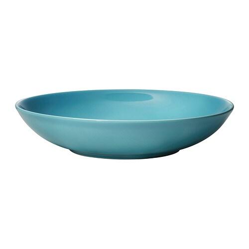 FÄRGRIK Deep plate Turquoise 24 cm - IKEA