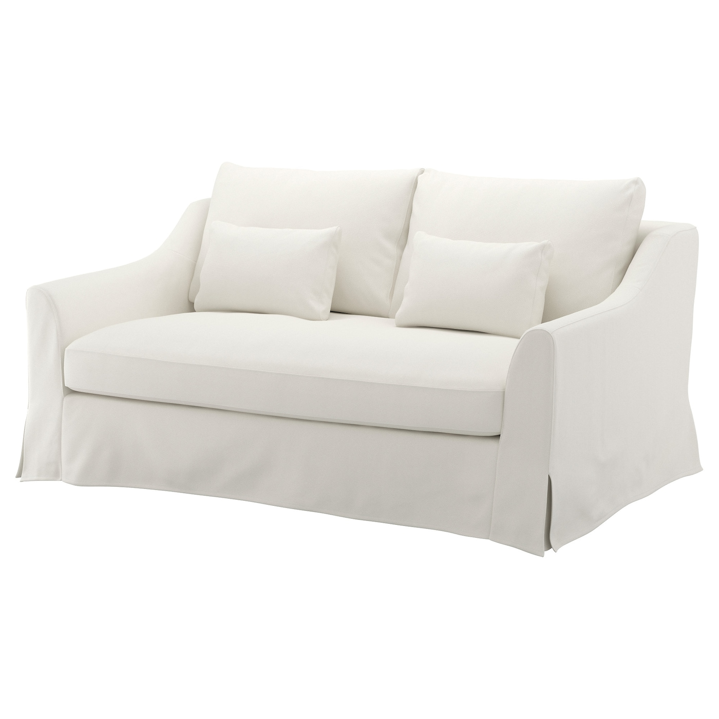 "F""RL–V Cover for 2 seat sofa Flodafors white IKEA"
