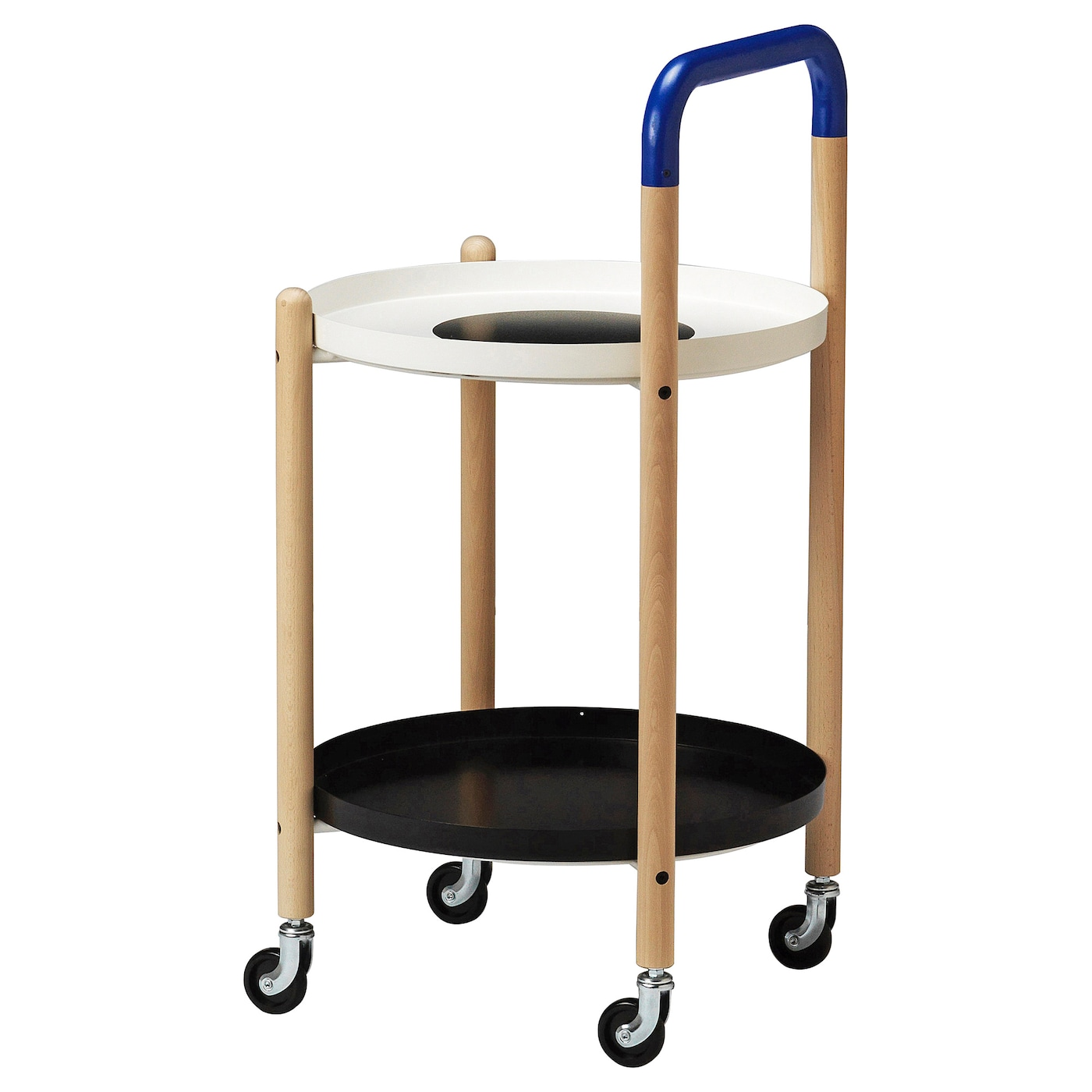 IKEA FÖRNYAD side table on castors Wheels make it easy to move.