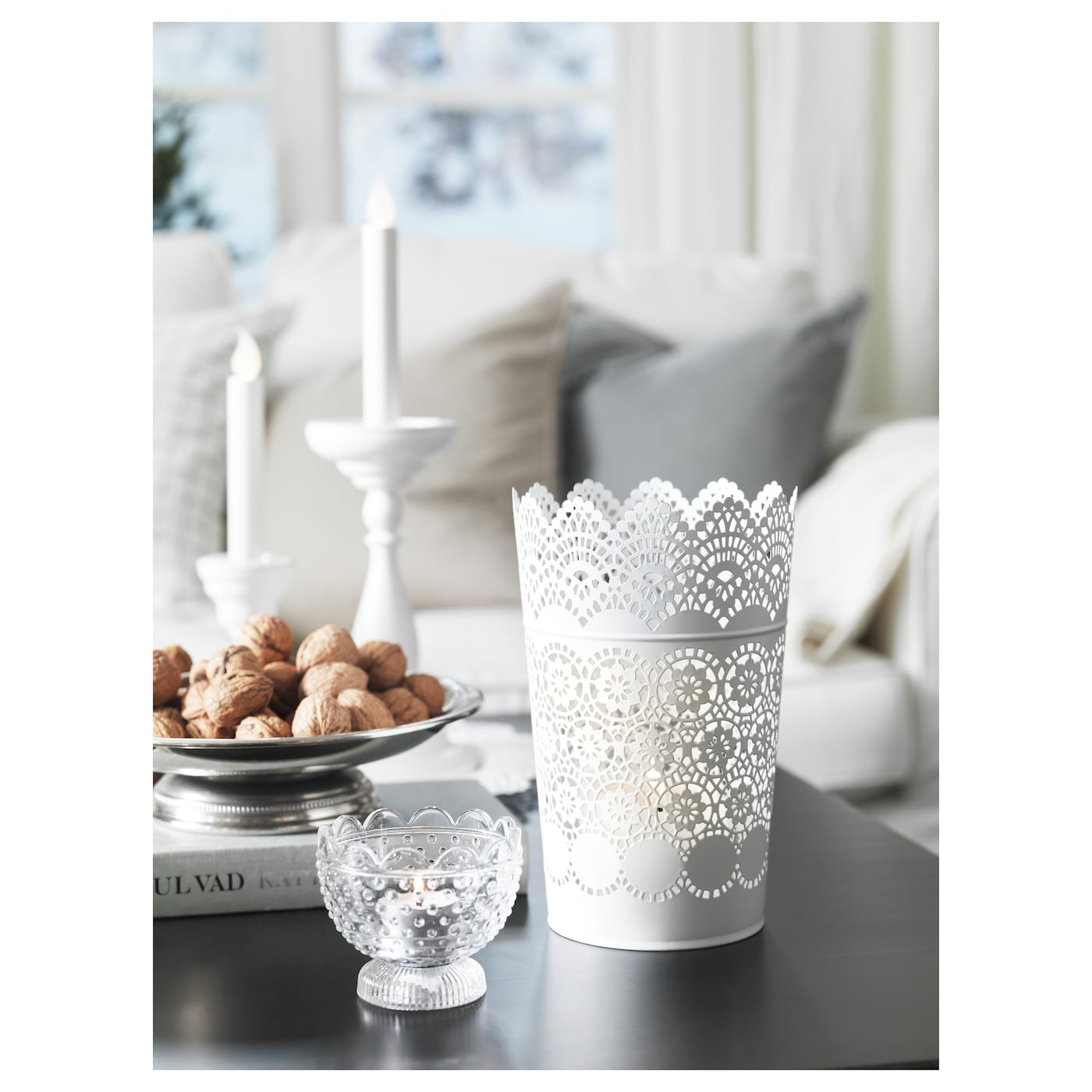 IKEA FÖRTJUST tealight holder Dual function; suitable for both tealight and candle in cup.